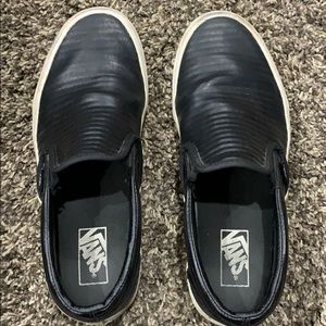 Vans - Black  - size 9 M  or 10 1/2 W